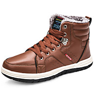 baratos Sapatos Masculinos-Homens Sapatos Confortáveis Couro Inverno Casual Botas Manter Quente Preto / Marron / Azul