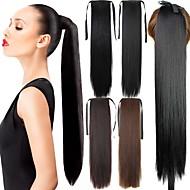 Cu Clape Coadă de cal Păr Sintetic Fir de păr Extensie de păr Buclat