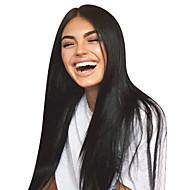 levne -Panenské vlasy Nezpracované lidské vlasy Se síťovanou přední částí Paruka Střední část Volná část Kardashian styl Brazilské vlasy Volný Příroda černá Paruka 130% Hustota vlasů 8-30 inch s dětskými