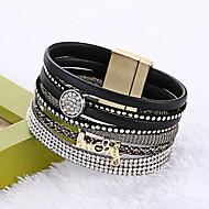 Femme Cuir / Alliage Européen / Mode / Multicouches bracelet