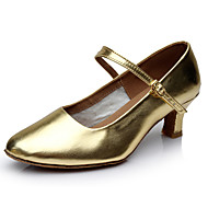 billige Kustomiserte dansesko-Dame Moderne sko Lakklær Sandaler / Høye hæler Kubansk hæl Kan spesialtilpasses Dansesko Gull
