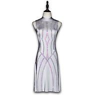 Λάτιν Χοροί Φορέματα Γυναικεία Επίδοση Spandex Γκλίτερ / Κρύσταλλοι / Στρας Αμάνικο Φόρεμα
