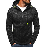 Men's Active / Basic Hoodie / Hoodie Jacket - Polka Dot Split Black XL