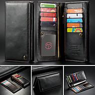 billiga Mobil cases & Skärmskydd-CaseMe fodral Till Blackberry / Apple / Samsung Galaxy Universell Plånbok / Korthållare Fodral Enfärgad Hårt PU läder för iPhone XS Max / S9 Plus / Note 9