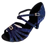 نسائي أحذية رقص المواد التركيبية كعب كريستال / حجم الراين كعب كوبي مخصص أحذية الرقص أرزق بحري