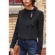 Damen Solide - Grundlegend Bluse mit Schnürung