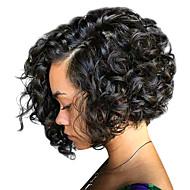 Cabelo Humano Frente de Malha Peruca Corte Bob estilo Cabelo Brasileiro Encaracolado Peruca 130% 150% 180% Densidade do Cabelo com o cabelo do bebê Mulheres Médio Perucas de Cabelo Natural