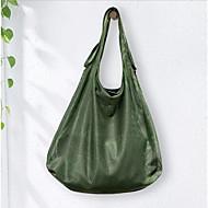 baratos Bolsas Tote-Mulheres Bolsas PU Tote Ziper Branco / Preto / Verde Tropa