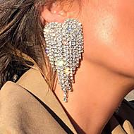 Damen Tropfen-Ohrringe Diamantimitate Ohrringe Herz Stilvoll Schmuck Gold / Silber Für Hochzeit Verlobung 1 Paar