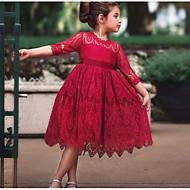 שמלה חצי שרוול אחיד בנות ילדים