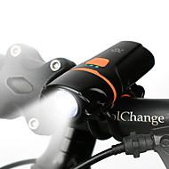 billige Sykkellykter og reflekser-Frontlys til sykkel LED Sykkellykter LED Sykling Vanntett, Bærbar, Støvtett Oppladbart Batteri 200 lm Oppladbart Batteri Hvit Camping / Vandring / Grotte Udforskning / Dagligdags Brug / Sykling -