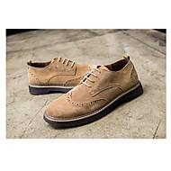 Bărbați Pantofi de confort Piele Primăvară Oxfords Gri / Galben / Verde
