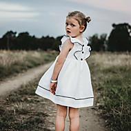 Djeca / Dijete koje je tek prohodalo Djevojčice slatko / Slatka Style Dnevno Jednobojni Nabori Kratkih rukava Haljina Obala