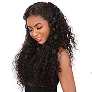 Ljudska kosa Lace Front Perika Duboko udaljavanje Stražnji dio Kardashian stil Brazilska kosa Valovita kosa Perika 250% Gustoća kose s dječjom kosom Dar Rasprodaja Udobnost Natural Žene Dug Perike s