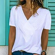 Pentru femei În V Tricou De Bază - Mată Roz Îmbujorat XL