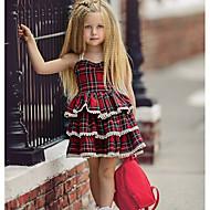 Baby Mädchen Grundlegend Alltag Verziert Ärmellos Standard Standard Baumwolle Kleid Blau