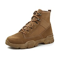 cheap Men's Boots-Men's Comfort Shoes Canvas Fall & Winter Boots Booties / Ankle Boots Black / Beige / Brown