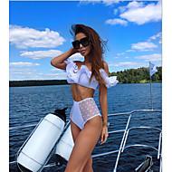 Femme Sans Bretelles Rouge Rose Claire Jaune Slip Brésilien Tankinis Maillots de Bain - Points Polka S M L Rouge / Sexy