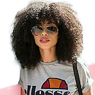 Ljudska kosa Lace Front Perika Duboko udaljavanje Stražnji dio stil Brazilska kosa Afro Kinky Perika 250% Gustoća kose s dječjom kosom Dar Rasprodaja Udobnost Natural Žene Dug Perike s ljudskom kosom