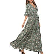 Γυναικεία Βαμβάκι Swing Φόρεμα Μακρύ
