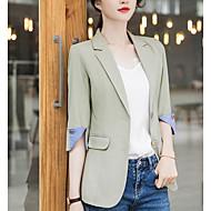 여성용 블레이져 셔츠 카라 폴리에스테르 클로버 / 블랙 XXL / XXXL / XXXXL