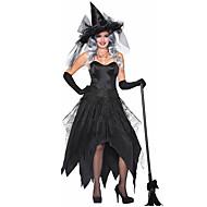 קוסם שמלות תחפושות קוספליי כובעים מבוגרים בגדי ריקוד נשים שמלות חג ליל כל הקדושים האלווין (ליל כל הקדושים) קרנבל נשף מסכות פסטיבל / חג טול polyster שחור תחפושות קרנבל טלאים