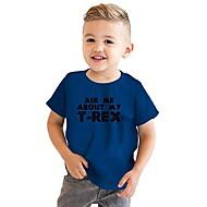 Děti / Toddler Chlapecké Aktivní / Základní Geometrický / Tisk Tisk Krátký rukáv Bavlna / Polyester Košilky Rubínově červená