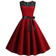 genunchiul femeii de mai sus o rochie de linie roșie s m l xl