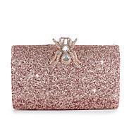 Kadın's Çantalar alaşım Gece Çantası Düğme / Kristal Detaylar için Düğün / Davet / Parti İlkbahar yaz / Sonbahar Kış Şampanya