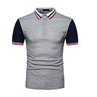 Polo Męskie Kołnierzyk koszuli Kolorowy blok Czarny L