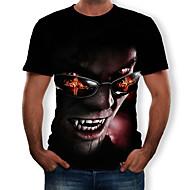 Erkek Tişört Desen, Zıt Renkli / 3D / Kabile