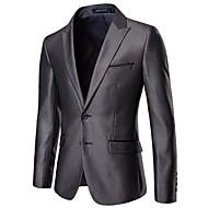Men's Suits, Solid Colored Notch Lapel Polyester Gray XXXL / XXXXL / XXXXXL
