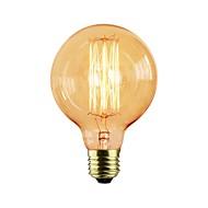 1st 40 W E26 / E27 G95 Gul transparent kropp Glödande Vintage Edison glödlampa 110-130 V