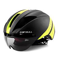 levne -CAIRBULL Dospělí Cyklistická přilba s brýlemi Aero helma 11 Větrací otvory CE EN 1077 Odolný proti nárazům Nízká hmotnost Ventilace EPS PC Sportovní Horské kolo Silniční cyklistika Jezdectví - Žlut