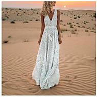 여성용 보호 스윙 드레스 - 도트무늬, 프린트 맥시