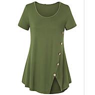 Dámské - Jednobarevné Větší velikosti Tričko Štíhlý Armádní zelená XXXL