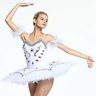 Ballet Tutus & Skirts Women's Training / Performance Organza / Tulle Crystals / Rhinestones Sleeveless Dress