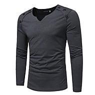 Miesten V kaula-aukko Puuvilla Yhtenäinen T-paita Valkoinen XL