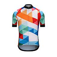 男性用 半袖 サイクリングジャージー - ホワイト バイク ジャージー トップス スポーツ テリレン 衣類 / 高弾性