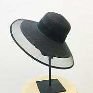 أبيض أسود قبعة الماصة لون سادة نسائي بوليستر,أساسي