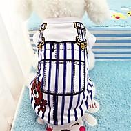 Chiens Gilet Vêtements pour Chien Rayure Bleu Rose Coton Costume Pour Printemps & Automne Eté Unisexe Décontracté / Quotidien