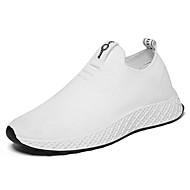 Homme Chaussures de confort Tissu élastique Printemps été Sportif / Preppy Chaussures d'Athlétisme Course à Pied Respirable Blanc / Noir / Rouge