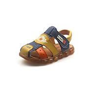 Băieți Pantofi Piele Vară Confortabili Sandale pentru Copii / Adolescent Negru / Galben