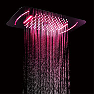 cheap -580x380 bathroom LED shower head/SUS304/3 function rainfall waterfall mist  /color change by remote controller
