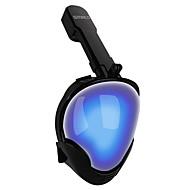 Maska za ronjenje Maske za cijelo lice Bez curenja Vodootporno Jedan prozor - Ronjenje Silikon - za Odrasli Plava Blue / Bijela Plava i Crna / Anti-Magla / Sprječava ulazak vode