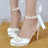 Pentru femei Satin / Mătase Primăvară pantofi de nunta Toc Stilat Bej / Rosu / Roz / Nuntă
