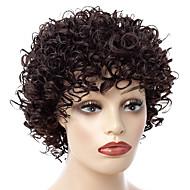 Sentetik Peruklar / Kaküller Bukle Stil Serbest bölüm Bonesiz Peruk Kahverengi Kahverengi / Burgonya Sentetik Saç 14 inç Kadın's Kadın / sentetik / Siyahi Kadınlar İçin Kahverengi Peruk Şort Doğal