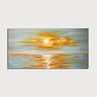 Hang-Dipinto ad olio Dipinta a mano - Astratto Paesaggi Modern Include interno della montatura / Tela allungata