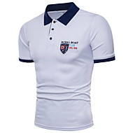 남성용 솔리드 셔츠 카라 슬림 Polo 푸른 XL