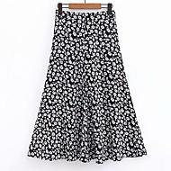 jupes maxi swing pour femmes - floral